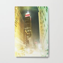 Empire at night _ empire state building New York City Metal Print