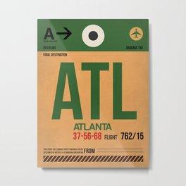 ATL Atlanta Luggage Tag 1 Metal Print