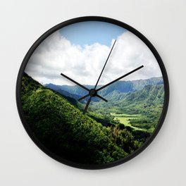 KAHANA VALLEY Wall Clock