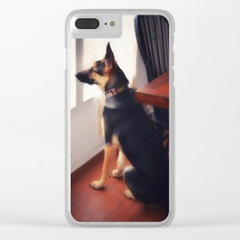 Squirrel Sentry Clear iPhone Case