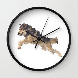 Penrose Tiling Wolf Wall Clock