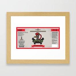Uppen Cider Label Framed Art Print