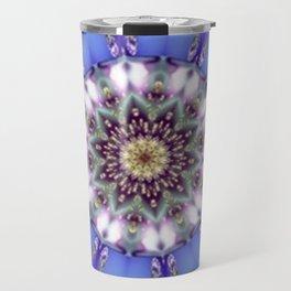 Romantic Blue Kaleidoscope Travel Mug