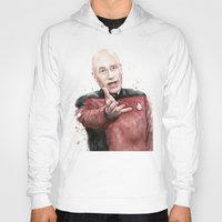 picard Hoodies featuring Annoyed Picard Meme  by Olechka