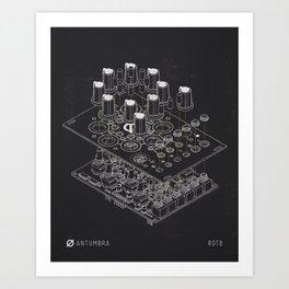 ROT8 - Technical drawing Art Print