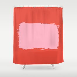 Crimson Swatch Shower Curtain