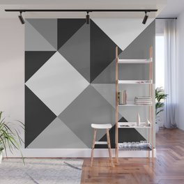 Black and White Geometry Wall Mural