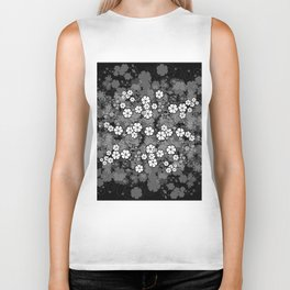 Abstract floral background Biker Tank