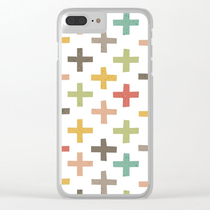 CRISSCROSSED Clear iPhone Case