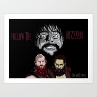 wwe Art Prints featuring WWE - The Wyatt Family by Chaotic Color