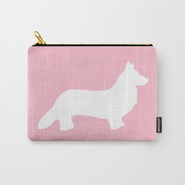 Pink Welsh Corgi Silhouette Carry-All Pouch