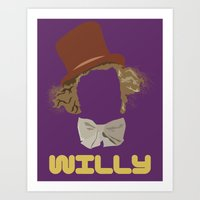 willy wonka Art Prints featuring Willy Wonka and you by Ally Simmons