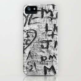Love messages carved in the tree in Lover's Lane, Green Gables iPhone Case