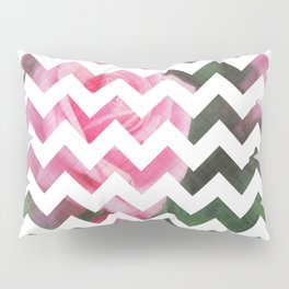 Pink Roses in Anzures 1 Chevron 3T Pillow Sham