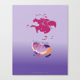 sences tangerine jelly purple Canvas Print