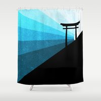 sunshine Shower Curtains featuring sunshine by Darthdaloon