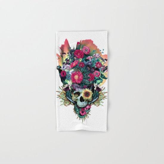 Floral Skull Vivid V Hand & Bath Towel