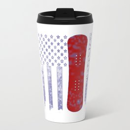 Snowboarding Flag Travel Mug