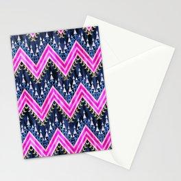 Pena Chevron Blue Stationery Cards