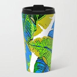 BANANA PALM LEAF PARADISE Travel Mug