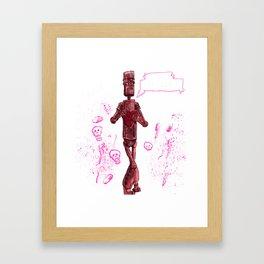 Awkward Robot Framed Art Print