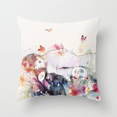 dreamy insomnia Throw Pillow