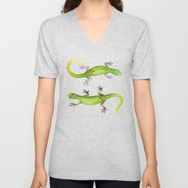 Gecko Lizard Unisex V-Neck