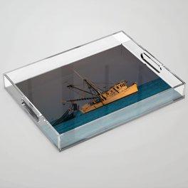 Tucker J fishing boat Acrylic Tray