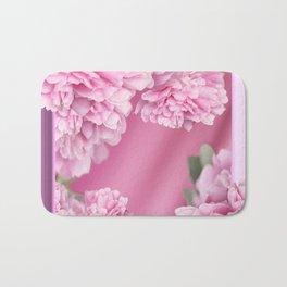 Pink Peonies In Frame #decor #society6 #buyart Bath Mat