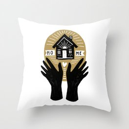 the hands that built our home Throw Pillow