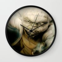 yoda Wall Clocks featuring Yoda by Colunga-Art