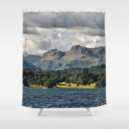 The Langdale Hills from Windermere, Lake District Shower Curtain