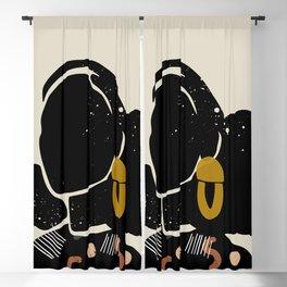 Black Hair No. 4 Blackout Curtain