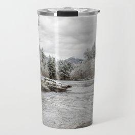 Wintry River Travel Mug