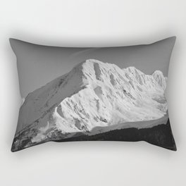 Portage Valley Mountain Glacier - B & W Rectangular Pillow