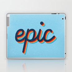 Epic - blue version Laptop & iPad Skin