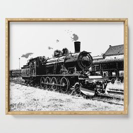 Riding the Rails - Vintage Steam Train Serving Tray