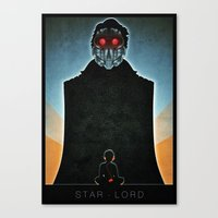 star lord Canvas Prints featuring Star-Lord by Lazare Gvimradze
