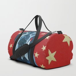 Starry Leonard the Black Lab Dog Portrait Duffle Bag