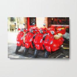 Red Bikes in Paris Metal Print