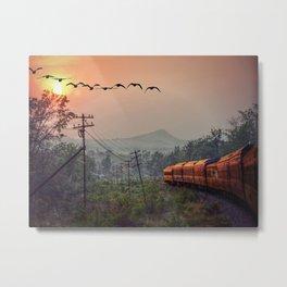 Traveling Metal Print