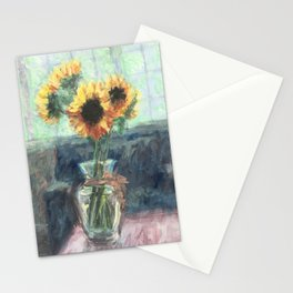 Sunflowers in a Vase Stationery Cards