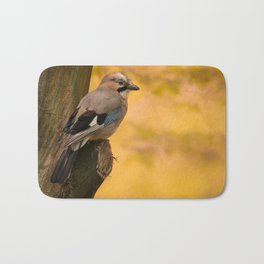 Jay bird in the park Bath Mat