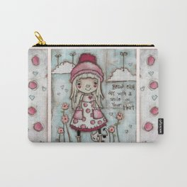 Happy Heart - Motivational Art for Girls Carry-All Pouch