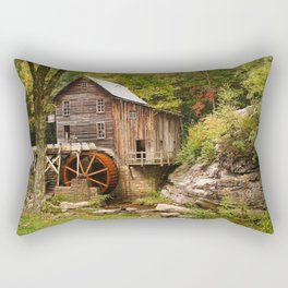 USA Trunk tree Glade Creek Grist Mill Babcock State Park Nature Parks Watermill park water mill Rectangular Pillow