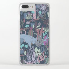 Coyote Desert Clear iPhone Case