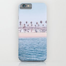 Vintage Newport Beach Print {3 of 4} | Photography Ocean Palm Trees Cool Blue Tropical Summer Sky iPhone Case