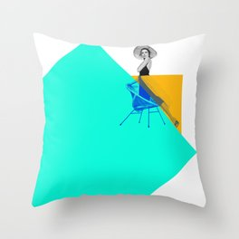 Grace and the Square Throw Pillow