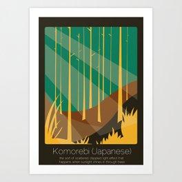 Found In Translation - Komorebi Art Print