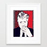 david lynch Framed Art Prints featuring David Lynch  by Paola Rassu